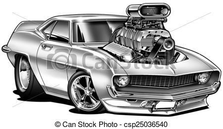 Drawn vehicle caricature Of DAP Line RODS Pinterest