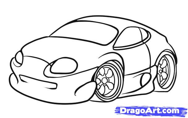 Drawn vehicle caricature Cars Step Online Simple Cars
