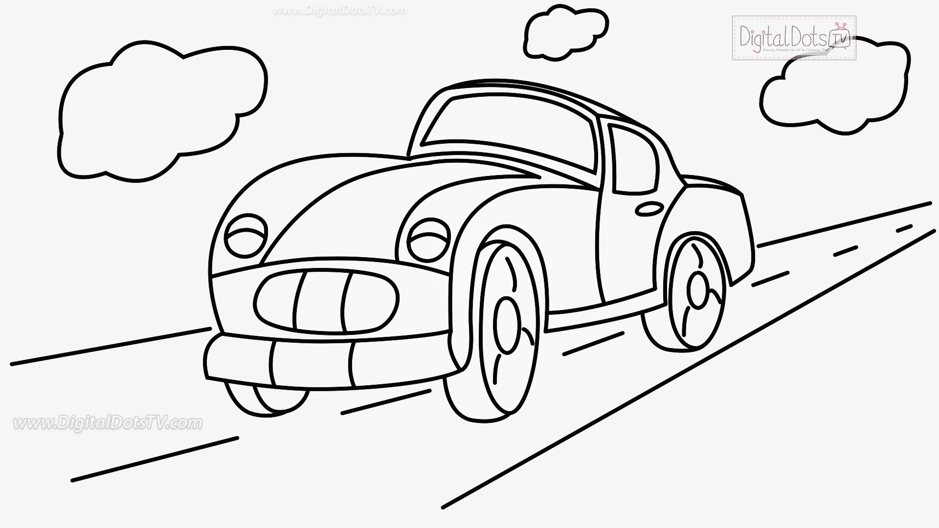 Drawn vehicle caricature Draw Step Cartoons Step Step