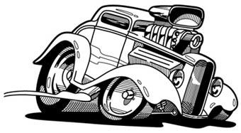 Drawn vehicle caricature Car Automotive  The art