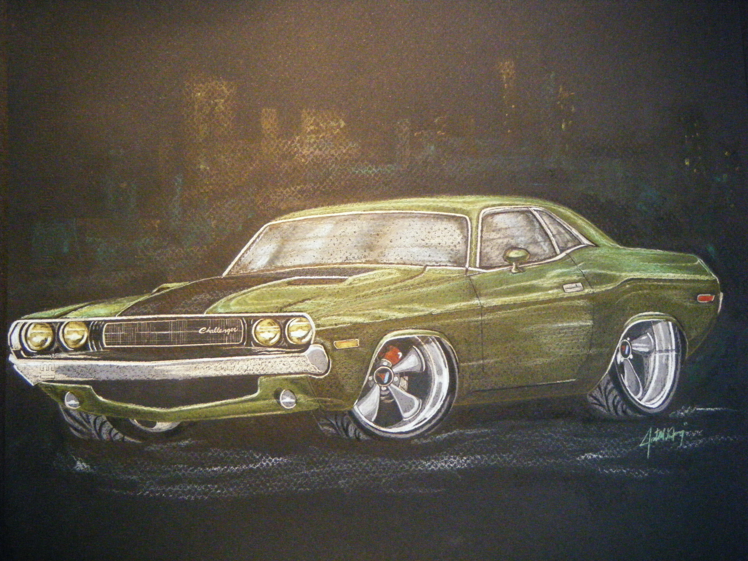 Drawn vehicle challenger Colored Challenger my pencil pencil