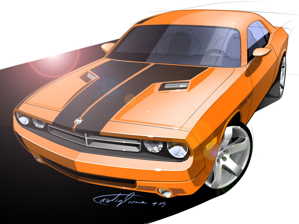 Drawn vehicle challenger 2006  com Dodge Concept