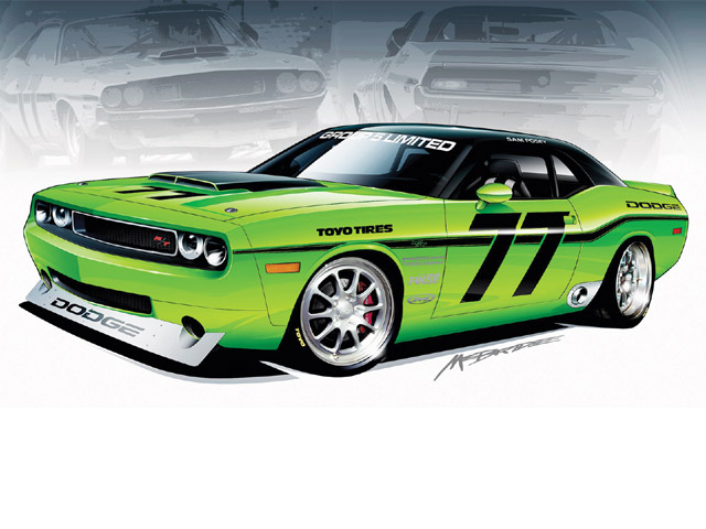 Drawn vehicle challenger Rod Network 32 Cars 446886
