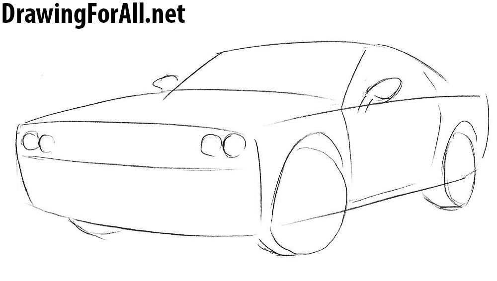 Drawn vehicle challenger Dodge Challenger to Draw how