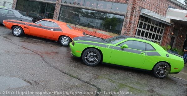 Drawn vehicle challenger T/A Next Goes Challenger Dodge