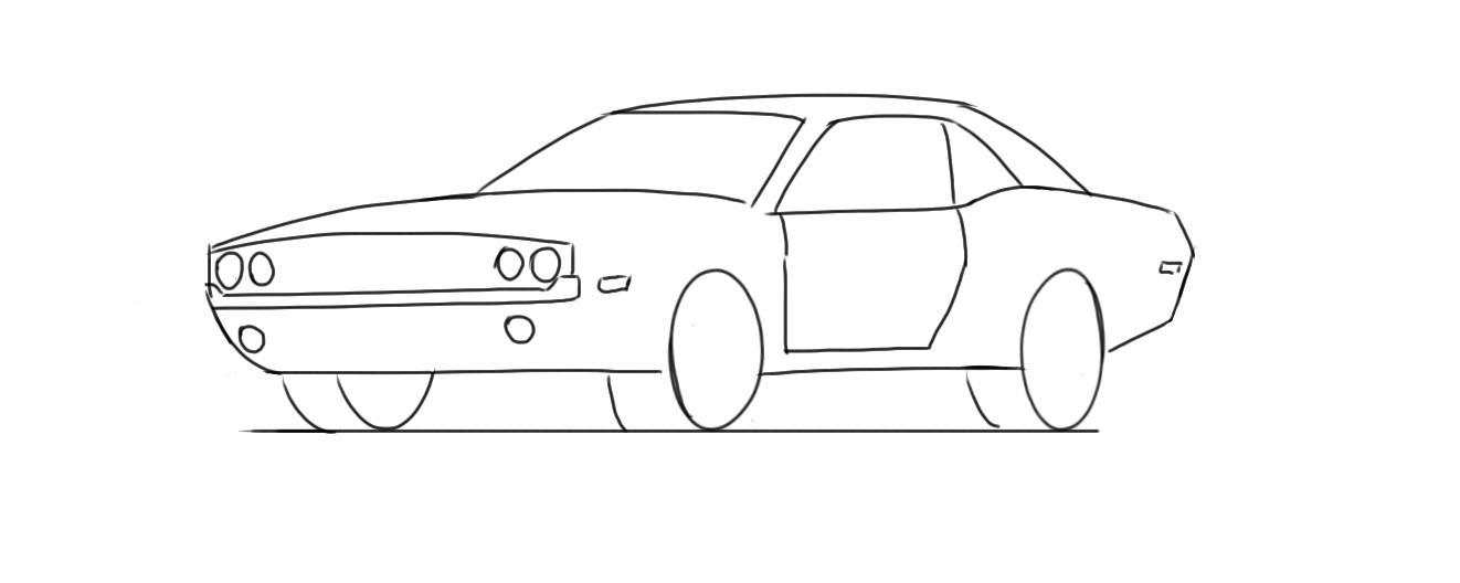 Drawn vehicle challenger Draw CARSPART To Designer How
