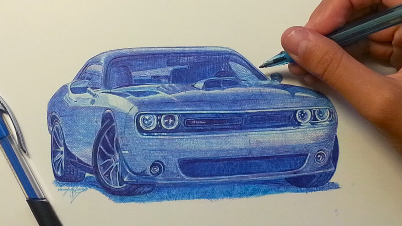 Drawn vehicle challenger Dodge  Pen Challenger with