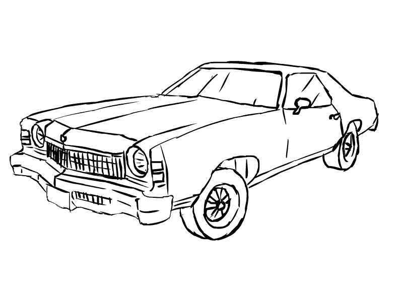Drawn vehicle chevrolet By Chevrolet Monte Carlo by