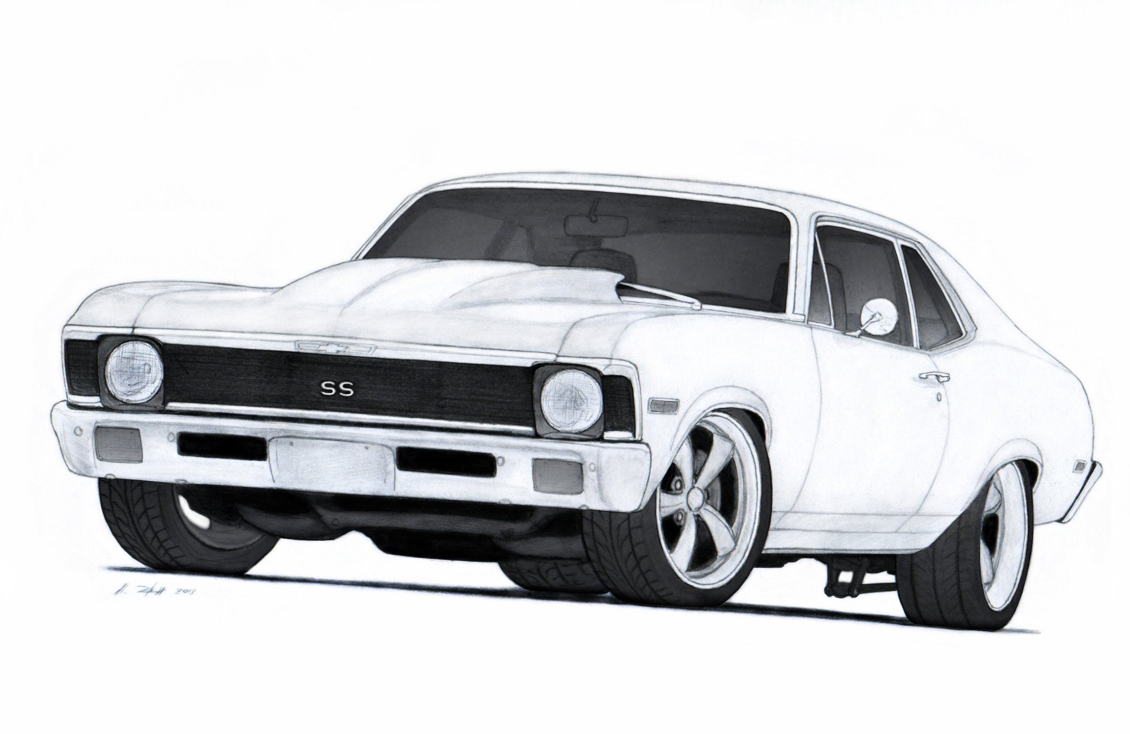 Drawn vehicle chevrolet Chevrolet SS 72 Touring by