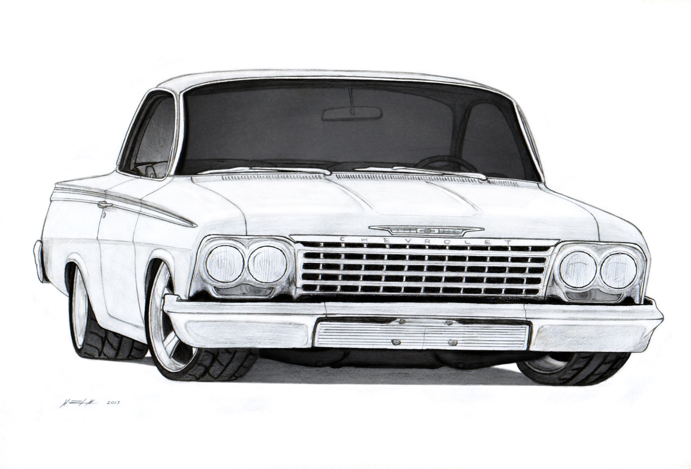 Drawn vehicle chevrolet Realistic Pencil Pic Images Drawing