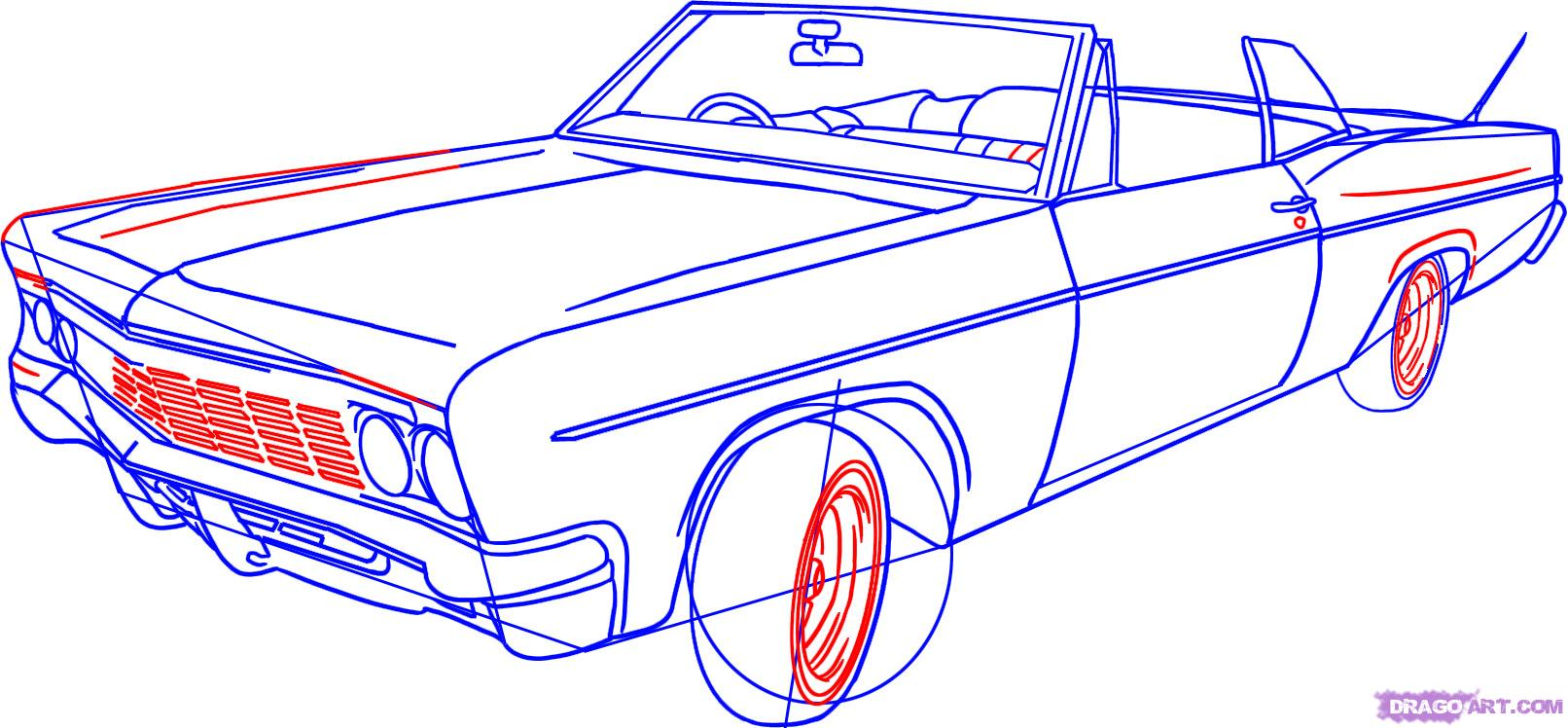 Drawn vehicle chevrolet Lowrider step to How Draw