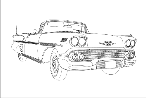 Drawn vehicle chevrolet Car drawings Chevy How Draw