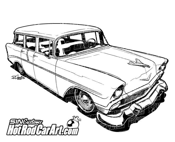 Classic Car clipart old school Chevrolet 1956 about best Clip