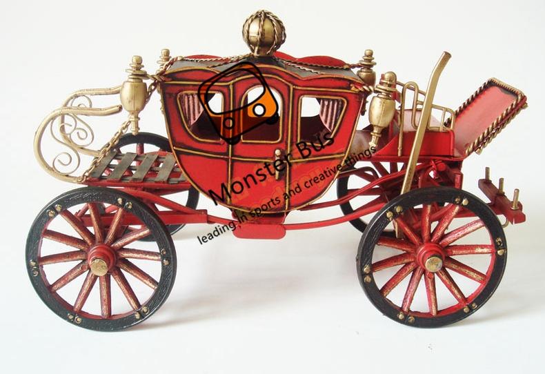 Drawn vehicle classic car Metal Decoration Handmade Retro Wheeled