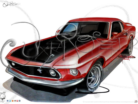 Drawn vehicle color Full Classic  Car Drawing