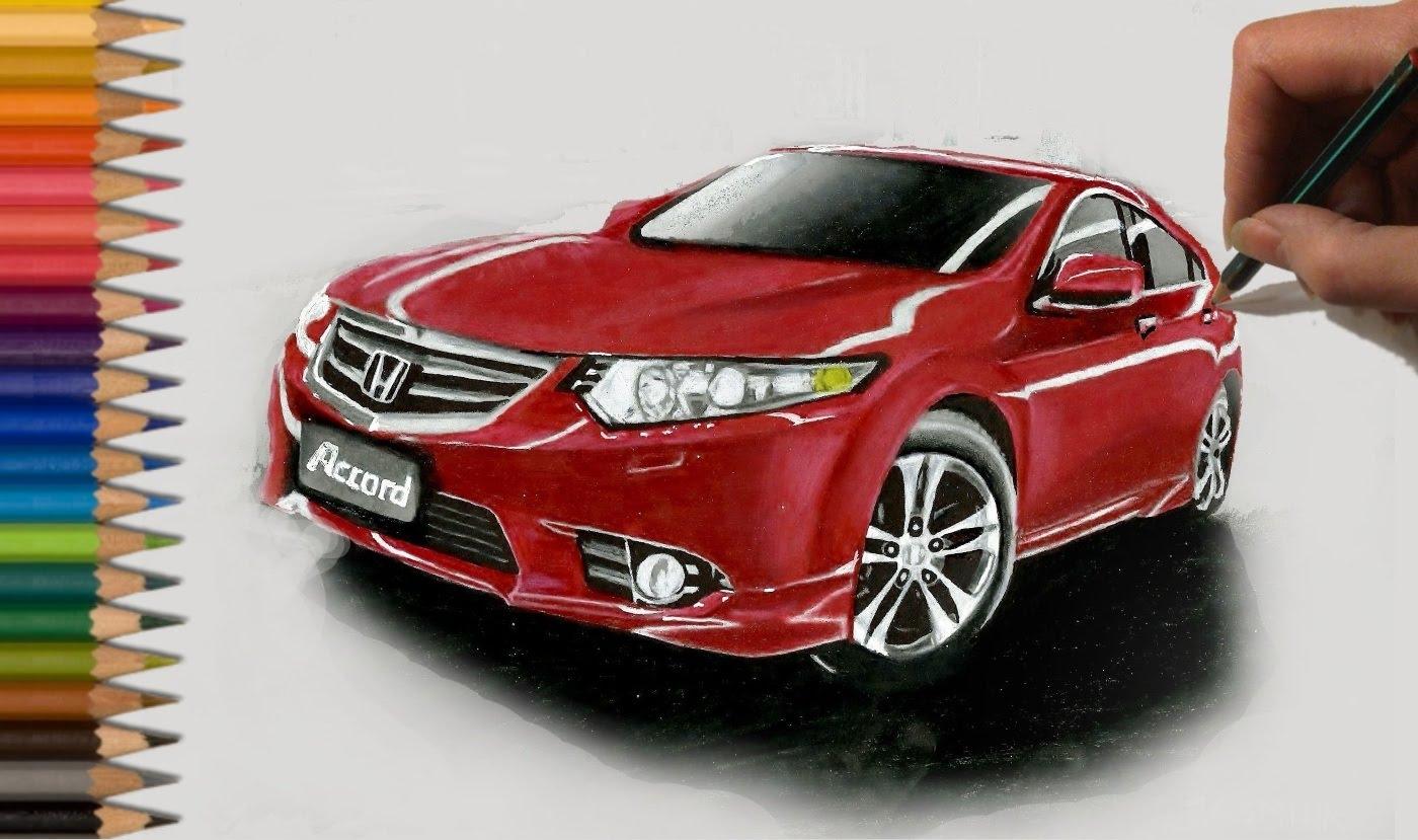 Drawn vehicle color Jasmina Accord Pencil Car Drawing: