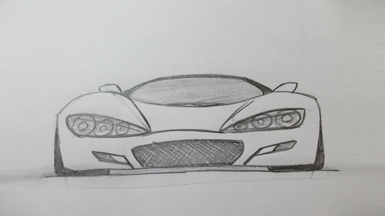 Drawn bmw beginner Easy car draw sports car