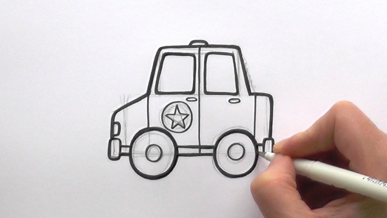Drawn vehicle cop car Cartoon Draw a to Car