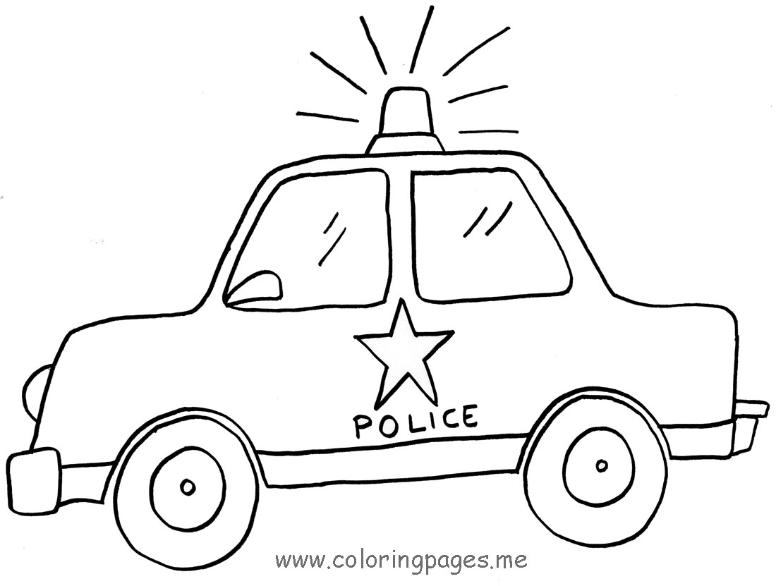 Drawn vehicle cop car Pages 02 pages police Pinterest