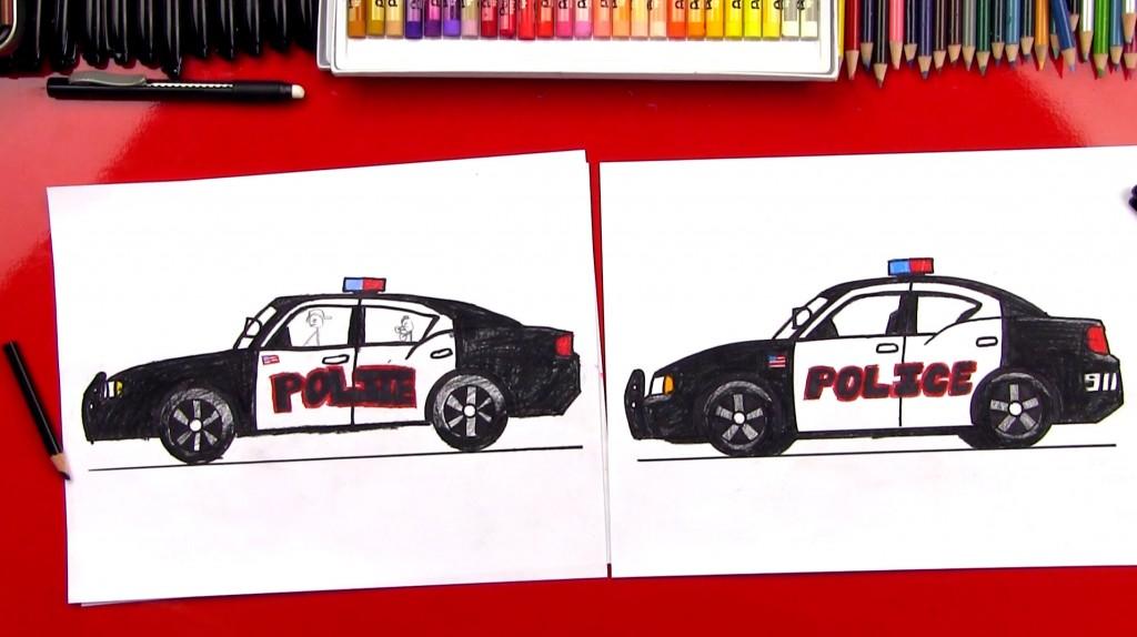 Drawn vehicle cop car Art Vehicles A To (Art