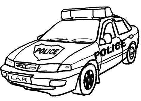Drawn vehicle cop car Police images coloring station Google