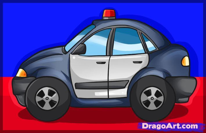 Drawn vehicle cop car Car a Online a to
