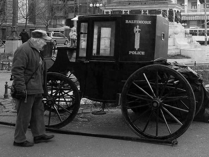 Drawn vehicle cop car Movie BPD Wagons 1900s wagon