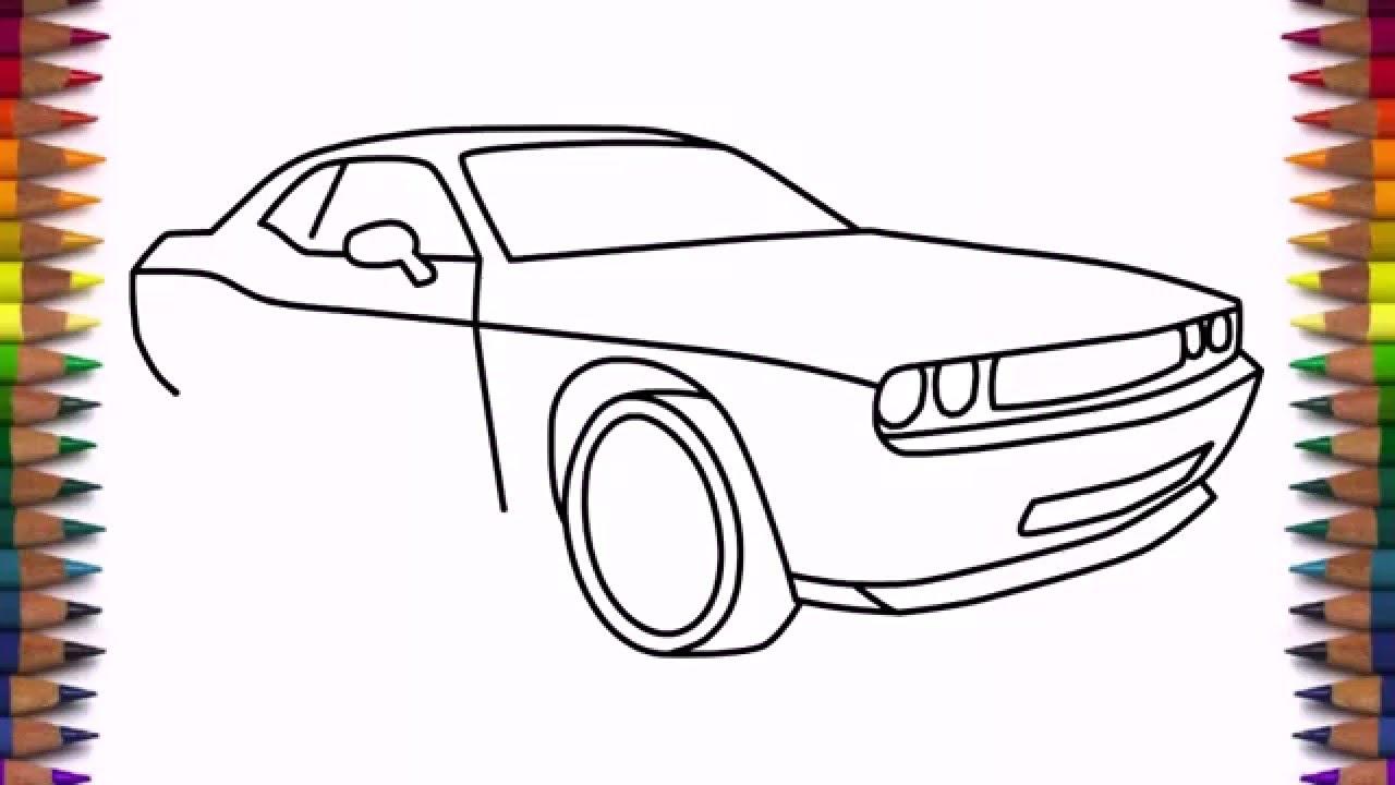 Drawn vehicle dodge  easy step to step