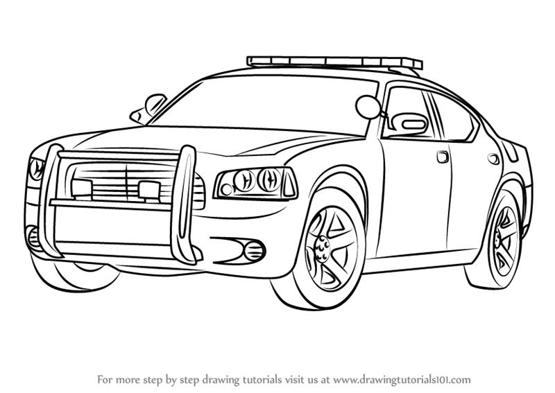 Drawn vehicle dodge Step How draw Police Car