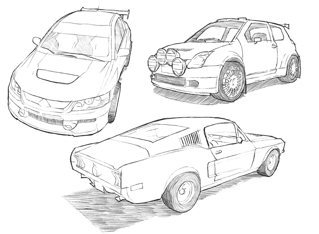 Drawn vehicle dodge How be Behance should how