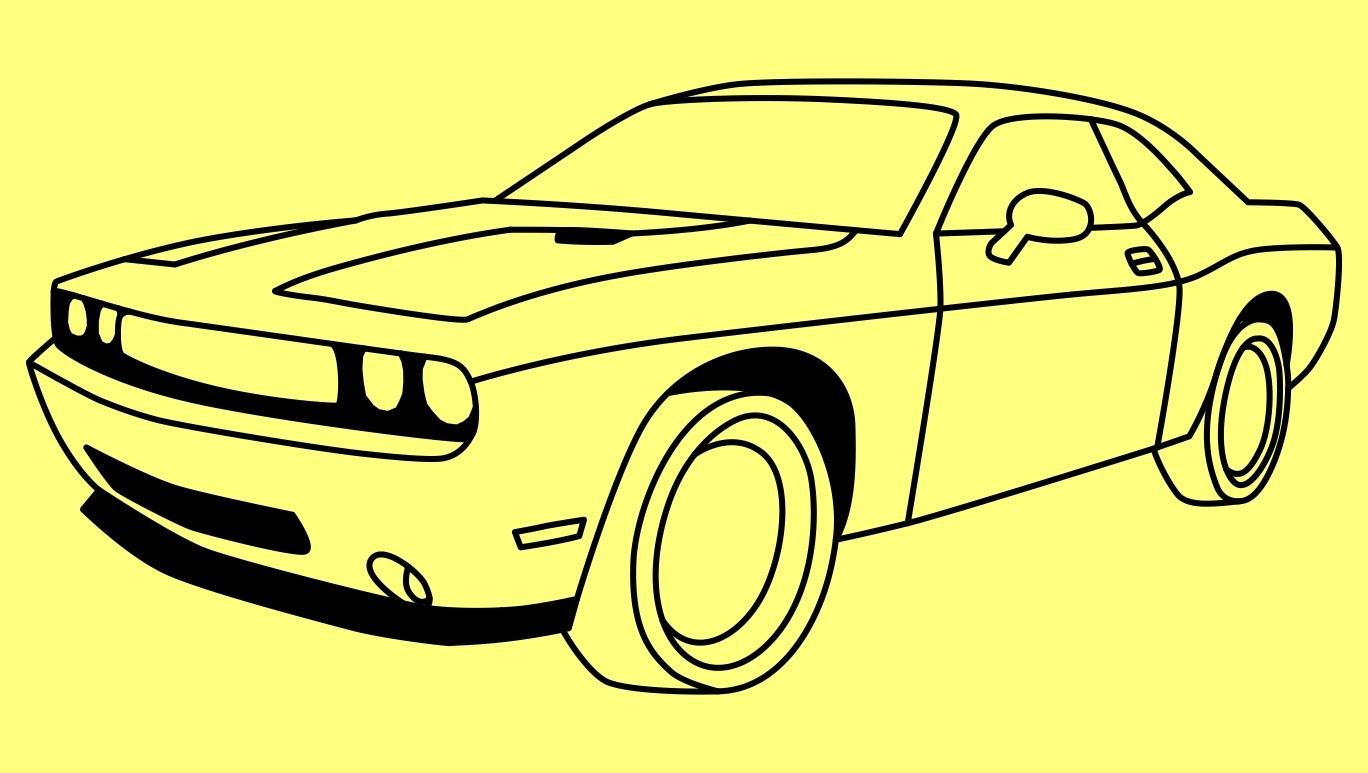 Drawn vehicle dodge Cómo to  Challenger Dodge
