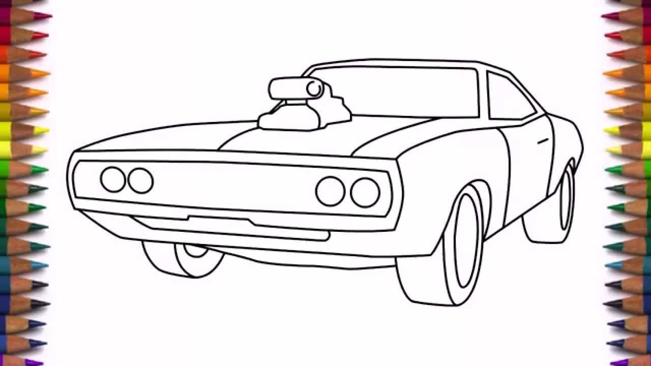Drawn vehicle dodge For to beginners Charger How