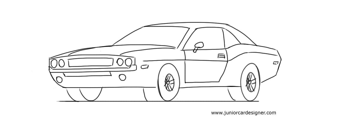 Drawn vehicle dodge A To Kids Car: Dodge