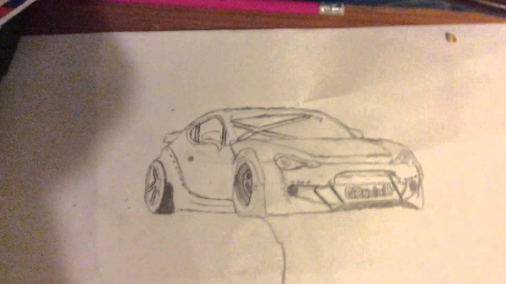 Drawn vehicle drift Brz car drawing bunny drawing