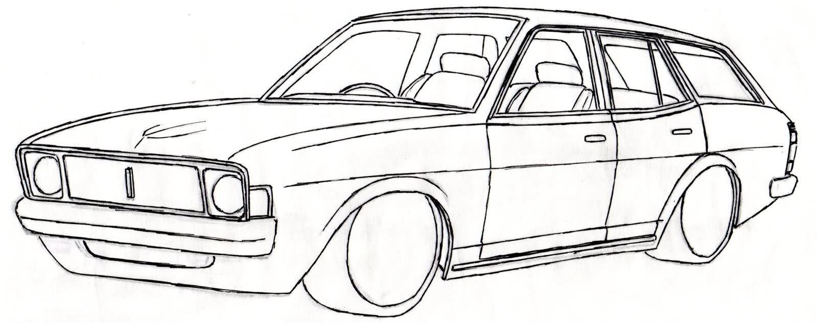 Drawn vehicle drift Galant Sigma GC/GD draw car