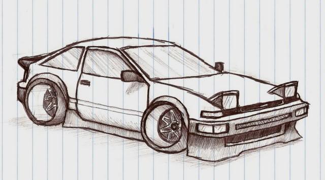 Drawn vehicle drift Freehand I'll com Any drift