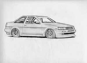 Drawn vehicle drift Com Thread Art Drawing Attached