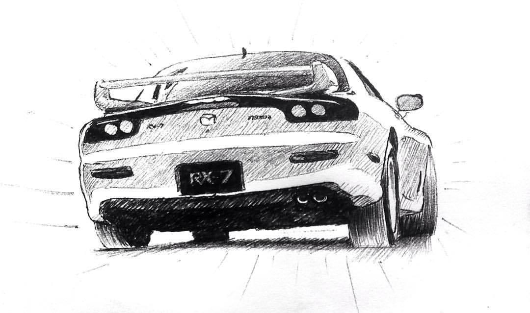 Drawn vehicle drift Car 7 (FD) Mazda never