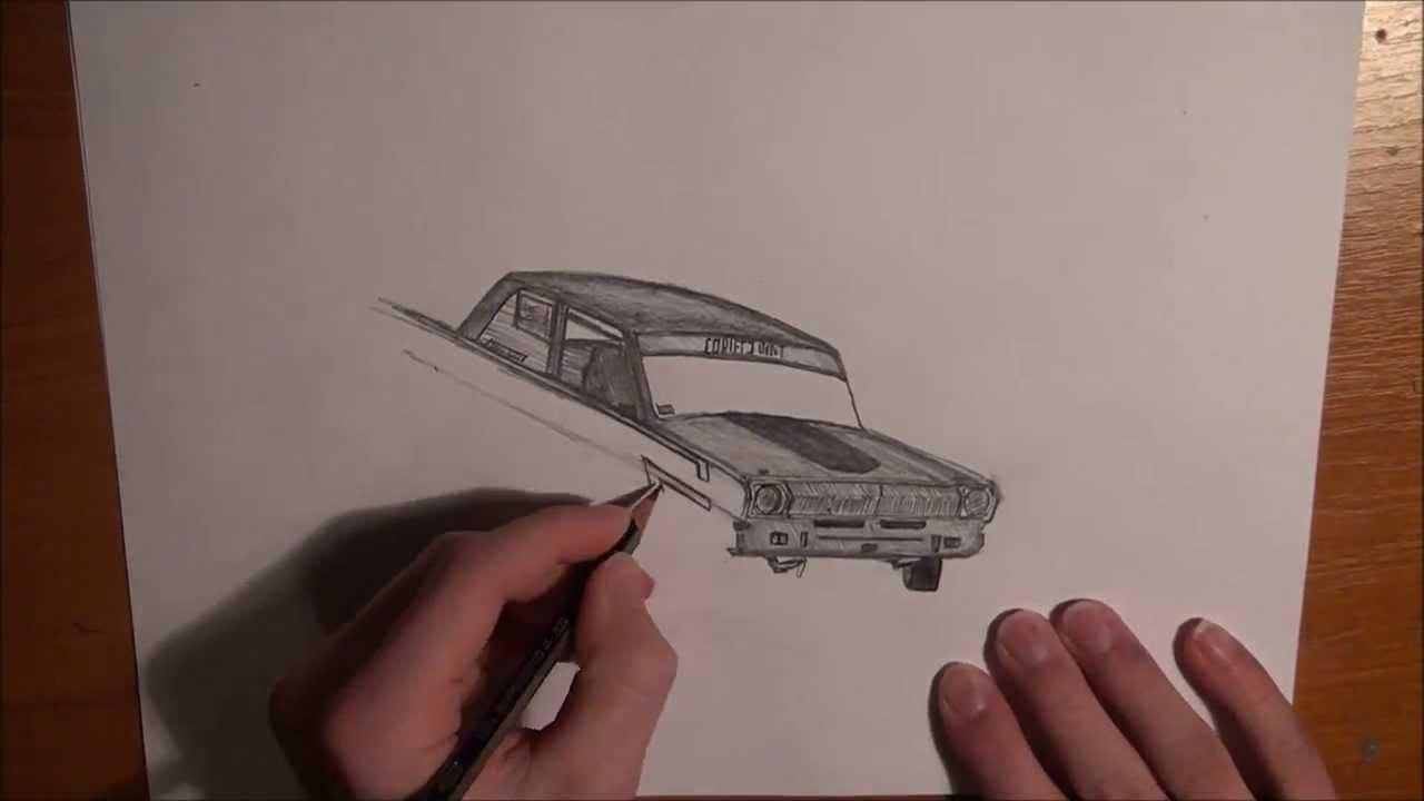 Drawn vehicle drift Car YouTube a Drawing car