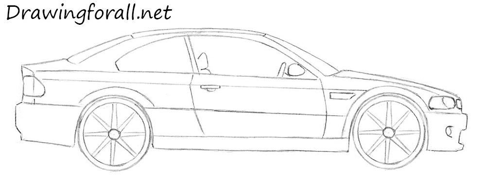 Drawn bmw beginner Beginners net for draw car