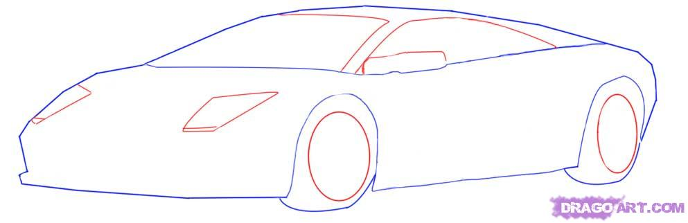 Drawn vehicle fancy car Draw step to To Draw