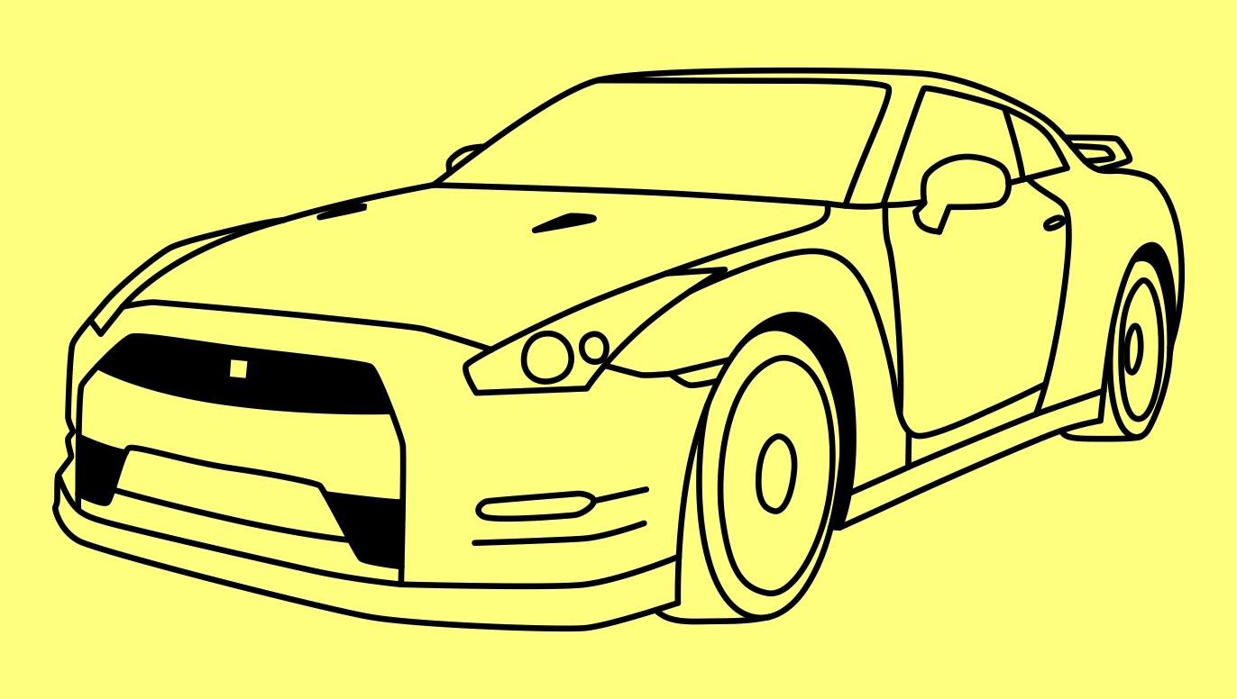 Drawn vehicle fast and furious Dibujar Nissan and GTR draw