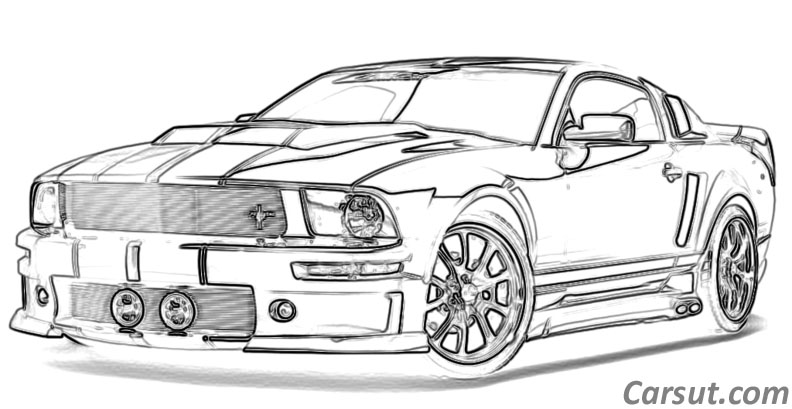 Drawn bmw pencil mustang Muscle Car  Ford Places