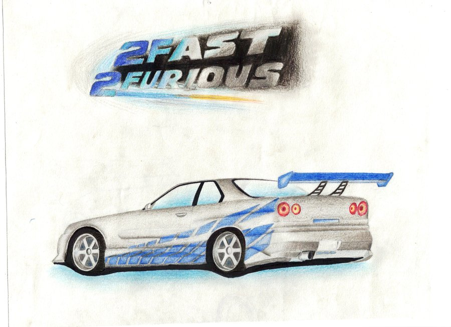 Drawn vehicle fast and furious SteeleFox 2fast dxprojects DeviantArt 2