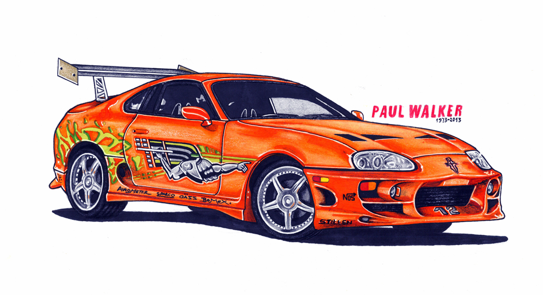 Drawn vehicle fast and furious Fast from Paul like can