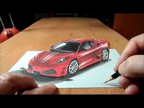 Drawn vehicle ferrari 3D car  Car to