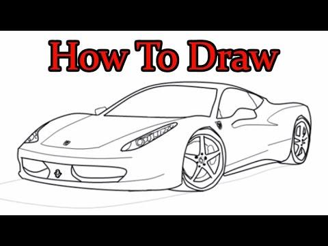 Drawn vehicle ferrari How Ferrari Speed To Speed