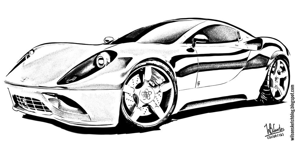 Drawn vehicle ferrari Ferrari Concept Dino