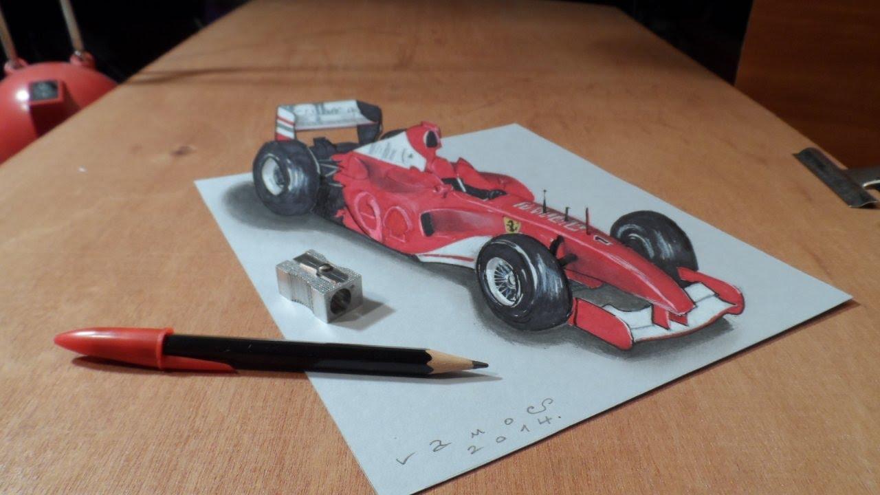Drawn vehicle formula 1 Formula Art I Trick YouTube