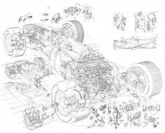 Drawn vehicle formula 1 Artwork Yoshiro RA272 by Engine
